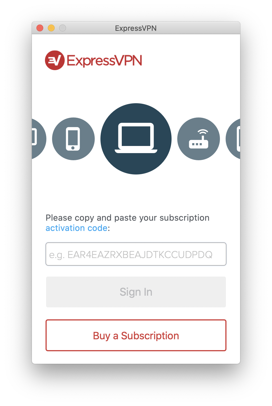 Copy your activation code
